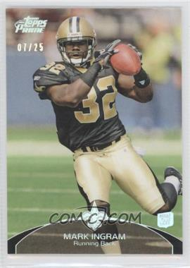 2011 Topps Prime Silver Rainbow #7 - Mark Ingram /25