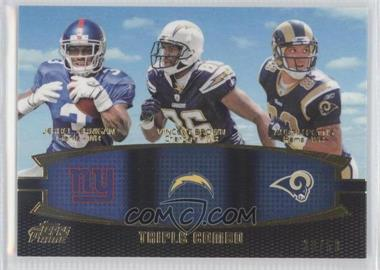 2011 Topps Prime Triple Combo Gold #TC-JBP - Jerrel Jernigan, Vincent Brown, Austin Pettis /50