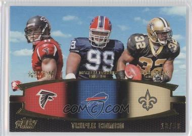 2011 Topps Prime Triple Combo Gold #TC-JDI - Julio Jones, Marcell Dareus, Mark Ingram, Atlanta Falcons /50