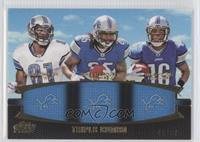 Calvin Johnson, Mikel Leshoure, Titus Young /50