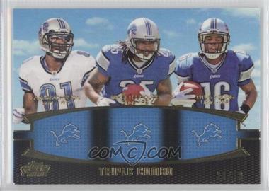 2011 Topps Prime Triple Combo Gold #TC-JLY - Calvin Johnson, Mikel Leshoure, Titus Young /50