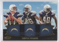 Philip Rivers, Vincent Brown, Jordan Todman /50
