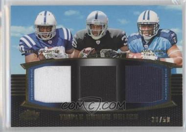 2011 Topps Prime Triple Combo Relics Gold #TCR-CJH - Delone Carter, Taiwan Jones /50