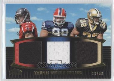 2011 Topps Prime Triple Combo Relics Gold #TCR-JDI - Julio Jones, Marcell Dareus, Mark Ingram /50