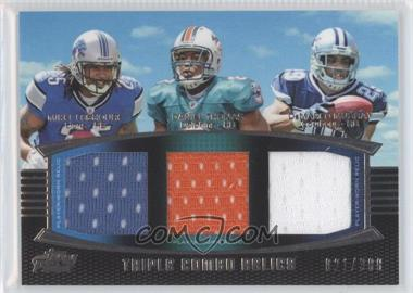 2011 Topps Prime Triple Combo Relics Gold #TCR-LTM - Mike Leach, DeMarco Murray /50