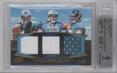 2011 Topps Prime Triple Combo Relics Gold #TCR-NLG - Cam Newton, Jake Locker, Blaine Gabbert /50 [BGS9]