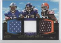 Titus Young, Torrey Smith, Greg Little /50