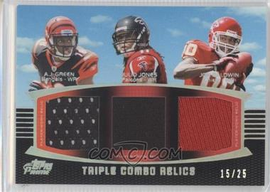 2011 Topps Prime Triple Combo Relics Silver Rainbow #TCR-GJB - Julio Jones /25