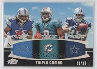 DeMarco Murray, Mikel Leshoure, Daniel Thomas /25