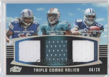 2011 Topps Prime Triple Combo Relics Silver Rainbow #TCR-LTM - Mike Leach, DeMarco Murray /25