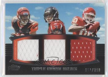 2011 Topps Prime Triple Combo Relics #TCR-GJB - A.J. Green, Julio Jones /388