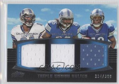2011 Topps Prime Triple Combo Relics #TCR-JLY - Calvin Johnson, Mikel Leshoure, Titus Young /388