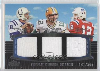 2011 Topps Prime Triple Combo Relics #TCR-MRB - Peyton Manning, Aaron Rodgers, Tom Brady /388