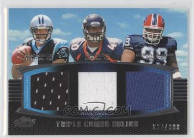 2011 Topps Prime Triple Combo Relics #TCR-NMD - Cam Newton, Von Miller, Marcell Dareus /388