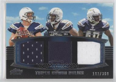 2011 Topps Prime Triple Combo Relics #TCR-RBT - Philip Rivers, Vincent Brown, Jordan Todman /388