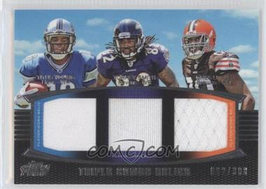 2011 Topps Prime Triple Combo Relics #TCR-YSL - Titus Young, Torrey Smith, Greg Little /388