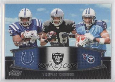 2011 Topps Prime Triple Combo #TC-CJH - Delone Carter, Taiwan Jones