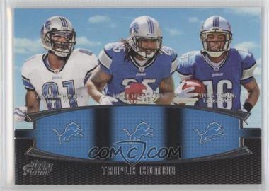 2011 Topps Prime Triple Combo #TC-JLY - Calvin Johnson, Mikel Leshoure, Titus Young