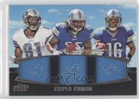 Calvin Johnson, Mikel Leshoure, Titus Young