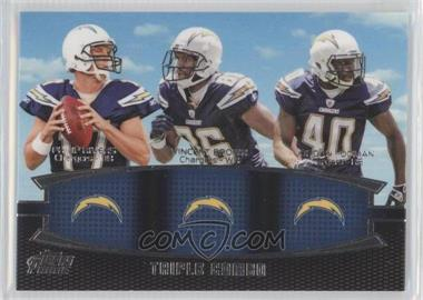 2011 Topps Prime Triple Combo #TC-RBT - Philip Rivers, Vincent Brown, Jordan Todman