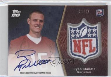 2011 Topps Rising Rookies - NFL Shield Rookie Autographed Patch #SRAP-RM - Ryan Mallett /25