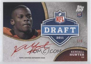2011 Topps Rising Rookies Draft Rookies Autographs Red Ink #DRA-KH - Kendall Hunter /5