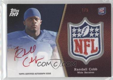 2011 Topps Rising Rookies NFL Shield Rookie Autographed Patch Red Ink #SRAP-RC - Randall Cobb /5