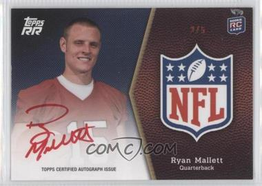 2011 Topps Rising Rookies NFL Shield Rookie Autographs Red Ink #SRA-RM - Ryan Mallett /5