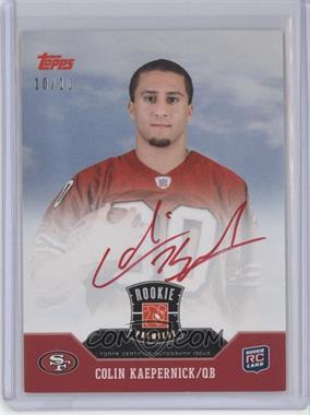 2011 Topps Rookie Premiere Autographs Red Ink #RP-CK - Colin Kaepernick /10 [Near Mint‑Mint+]