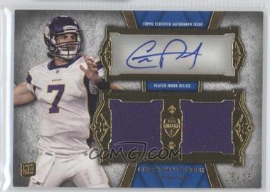 2011 Topps Supreme - Autographed Dual Relic #SADR-CP - Christian Ponder /15