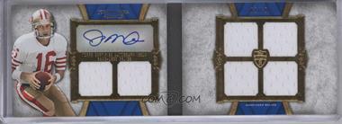 2011 Topps Supreme Autographed Six Piece Relic Book #SASPR-JM - Joe Montana /10