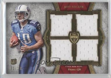 2011 Topps Supreme Rookie Quad Relics Red #SRQR-2 - Jake Locker /10