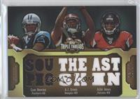 Cam Newton, A.J. Green, Julio Jones /27