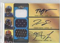 Titus Young, Torrey Smith, Greg Little /27
