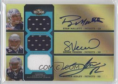 2011 Topps Triple Threads Autographed Relic Combos Emerald #TTARC-10 - Ryan Mallett, Shane Vereen, Stevan Ridley /18