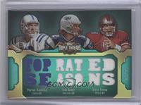 Peyton Manning, Tom Brady, Steve Young /18