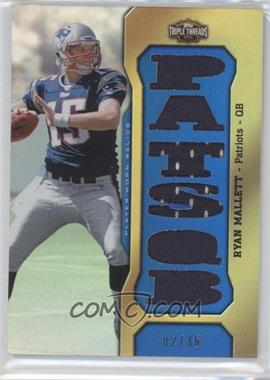 2011 Topps Triple Threads Relics #TTR-30 - Ryan Mallett /36