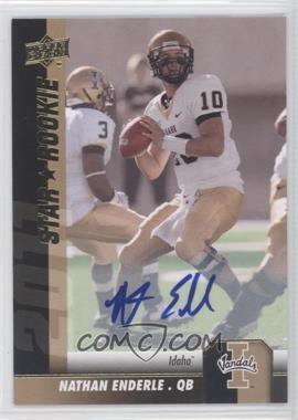 2011 Upper Deck - [Base] - Gold Autographs [Autographed] #100 - Nathan Enderle