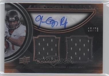 2011 Upper Deck Black - Lustrous Rookie Signatures Memorabilia - [Autographed] #23 - Jacquizz Rodgers /75