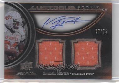 2011 Upper Deck Black Lustrous Rookie Signatures Memorabilia [Autographed] #13 - Kendall Hunter /75