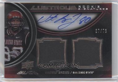 2011 Upper Deck Black Lustrous Rookie Signatures Memorabilia [Autographed] #21 - Vincent Brown /75