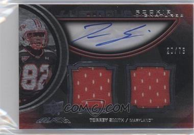 2011 Upper Deck Black Lustrous Rookie Signatures Memorabilia [Autographed] #27 - Torrey Smith /75