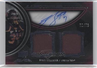 2011 Upper Deck Black Lustrous Rookie Signatures Memorabilia [Autographed] #8 - Ryan Williams /75