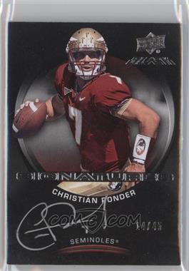2011 Upper Deck Black Signatures #CP - Christian Ponder /45