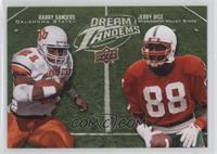 Barry Sanders, Jerry Rice