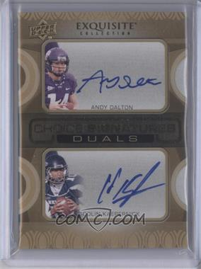 2011 Upper Deck Exquisite Collection - Choice Signatures Duals #N/A - Colin Kaepernick