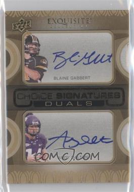 2011 Upper Deck Exquisite Collection Choice Signatures Duals #N/A - Blaine Gabbert