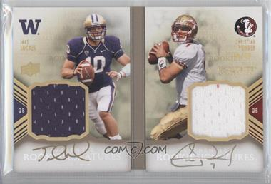 2011 Upper Deck Exquisite Collection Rookie Bookmarks #RBM-LP - Christian Ponder, Jake Locker /40