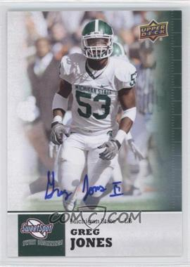 2011 Upper Deck Sweet Spot Autographs [Autographed] #34 - Greg Jones