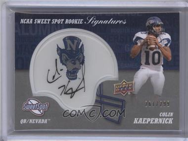 2011 Upper Deck Sweet Spot Rookie Signatures Variations #RS-CK - Colin Kaepernick /299